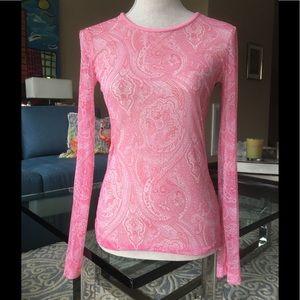D&G Dolce & Gabbana Long Sleeve Mesh Top S Perfect
